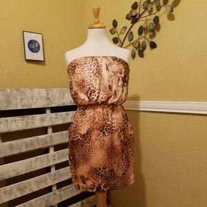 City Triangles Pink/Brown Cheetah Print Mini Dress